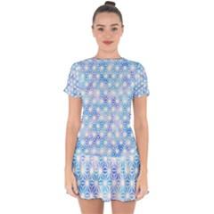 Traditional Patterns Hemp Pattern Drop Hem Mini Chiffon Dress by Pakrebo