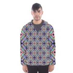 Pattern Wallpaper Background Hooded Windbreaker (men) by Pakrebo