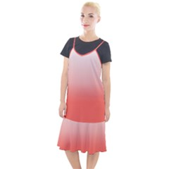 Coral To White Camis Fishtail Dress by TimelessFashion