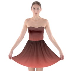 Coral To Black  Strapless Bra Top Dress by TimelessFashion