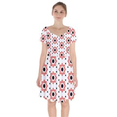 Flower Star Short Sleeve Bardot Dress by TimelessFashion