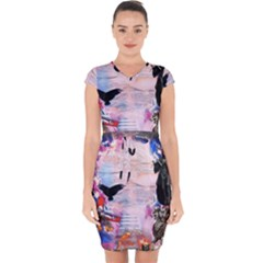 Crusified Capsleeve Drawstring Dress  by COMBAT76HORNETS