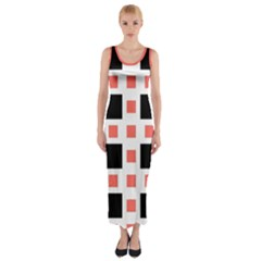 Squares On A Mission Fitted Maxi Dress by TimelessFashion