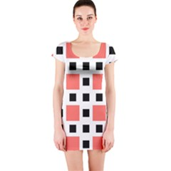 Squares On A Mission Short Sleeve Bodycon Dress