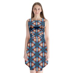 Pattern Tile Background Seamless Sleeveless Chiffon Dress   by Pakrebo