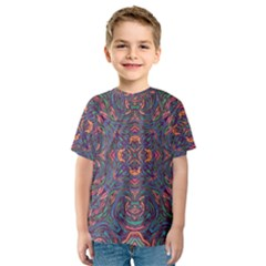 Tile Repeating Colors Textur Kids  Sport Mesh Tee by Pakrebo