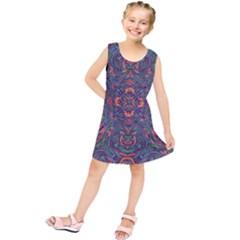 Tile Repeating Colors Textur Kids  Tunic Dress by Pakrebo