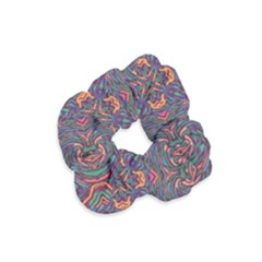 Tile Repeating Colors Textur Velvet Scrunchie by Pakrebo