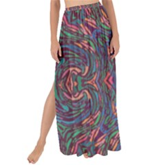 Tile Repeating Colors Textur Maxi Chiffon Tie Up Sarong by Pakrebo