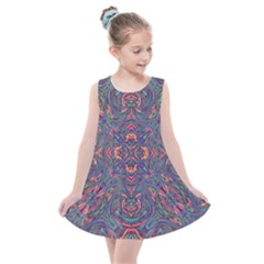 Tile Repeating Colors Textur Kids  Summer Dress by Pakrebo