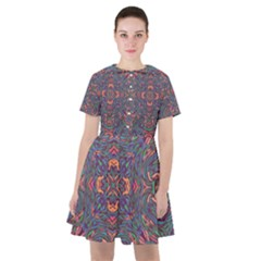 Tile Repeating Colors Textur Sailor Dress by Pakrebo