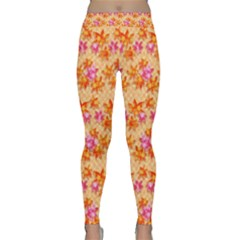 Maple Leaf Autumnal Leaves Autumn Classic Yoga Leggings by Pakrebo
