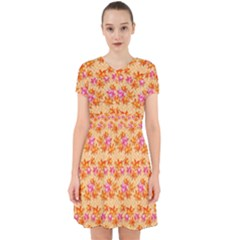 Maple Leaf Autumnal Leaves Autumn Adorable In Chiffon Dress by Pakrebo