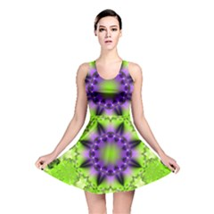 Pattern Abstract Background Art Green Reversible Skater Dress