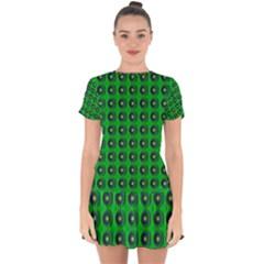 Texture Stucco Graphics Flower Drop Hem Mini Chiffon Dress by Pakrebo
