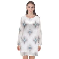 Seamless Pattern Pattern Bubble Wrap Long Sleeve Chiffon Shift Dress  by Pakrebo