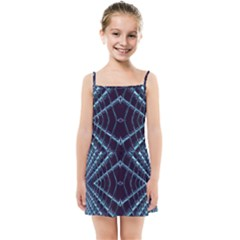 Sci Fi Texture Futuristic Design Kids  Summer Sun Dress