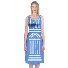 Flag Of Unesco Midi Sleeveless Dress