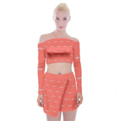 Its Fishy Off Shoulder Top With Mini Skirt Set by TimelessFashion