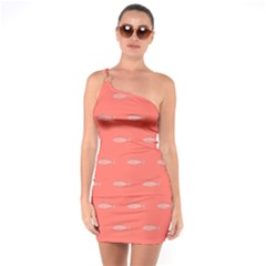 Its Fishy One Soulder Bodycon Dress by TimelessFashion