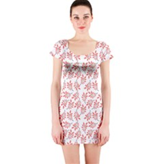 Just Leaves  Short Sleeve Bodycon Dress