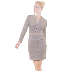 Atomic Effect  Button Long Sleeve Dress by TimelessFashion