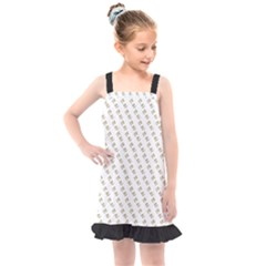 No Step On Snek Pattern Yellow On White Background Gadsden Flag Meme Parody Kids  Overall Dress by snek