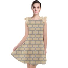 Brick Wall  Tie Up Tunic Dress by TimelessFashion
