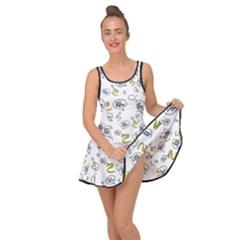 No Step On Snek Do Not  Bubble Speech Pattern White Background Gadsden Flag Meme Inside Out Casual Dress by snek