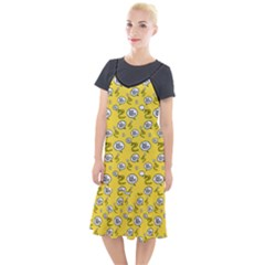 No Step On Snek Do Not  Bubble Speech Pattern Yellow Background Gadsden Flag Meme Camis Fishtail Dress by snek