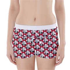 Trump Retro Face Pattern Maga Red Us Patriot Boyleg Bikini Wrap Bottoms by snek
