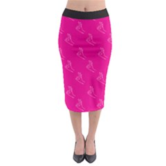A Ok Perfect Handsign Maga Pro Trump Patriot On Pink Background Midi Pencil Skirt by snek