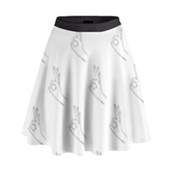 A Ok Perfect Handsign Maga Pro Trump Patriot Black And White High Waist Skirt by snek