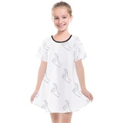 A Ok Perfect Handsign Maga Pro Trump Patriot Black And White Kids  Smock Dress by snek