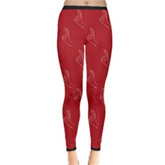 A Ok Perfect Handsign Maga Pro Trump Patriot On Maga Red Background Inside Out Leggings by snek