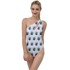 Apu Apustaja With Banana Phone Wall Eyed Pepe The Frog Pattern Kekistan To One Side Swimsuit by snek