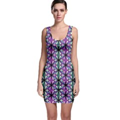 Geometric Patterns Triangle Seamless Bodycon Dress by Pakrebo