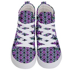 Geometric Patterns Triangle Seamless Kids  Hi Top Skate Sneakers