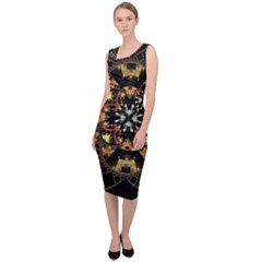 Fractal Stained Glass Ornate Sleeveless Pencil Dress by Pakrebo