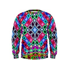 Kaleidoscope Pattern Sacred Geometry Kids  Sweatshirt