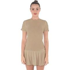 Just Squares Drop Hem Mini Chiffon Dress by TimelessFashion