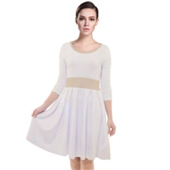 Marble Quarter Sleeve Waist Band Dress by TimelessFashion