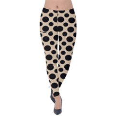 Polka Dots  Velvet Leggings by TimelessFashion