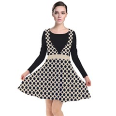 Polka Dots  Plunge Pinafore Dress by TimelessFashion