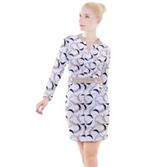Simply Retro  Button Long Sleeve Dress by TimelessFashion