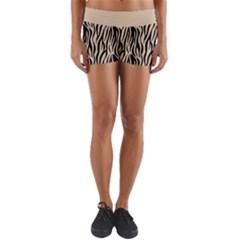 Zebra Style  Yoga Shorts by TimelessFashion