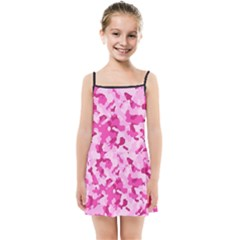 Standard Pink Camouflage Army Military Girl Funny Pattern Kids  Summer Sun Dress by snek