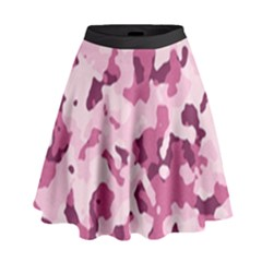 Standard Violet Pink Camouflage Army Military Girl High Waist Skirt by snek