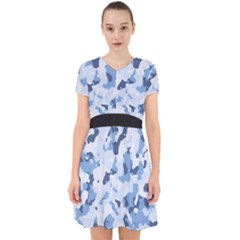 Standard Light Blue Camouflage Army Military Adorable In Chiffon Dress by snek