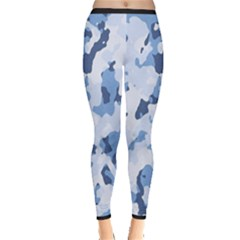 Standard Light Blue Camouflage Army Military Inside Out Leggings by snek